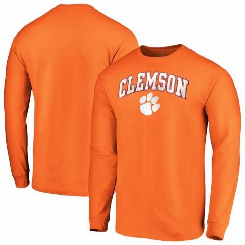 FANATICS BRANDED タイガース キャンパス スリーブ Tシャツ 橙 オレンジ メンズファッション トップス カットソー メンズ 【 Clemson Tigers Campus Long Sleeve T-shirt - Orange 】 Orange