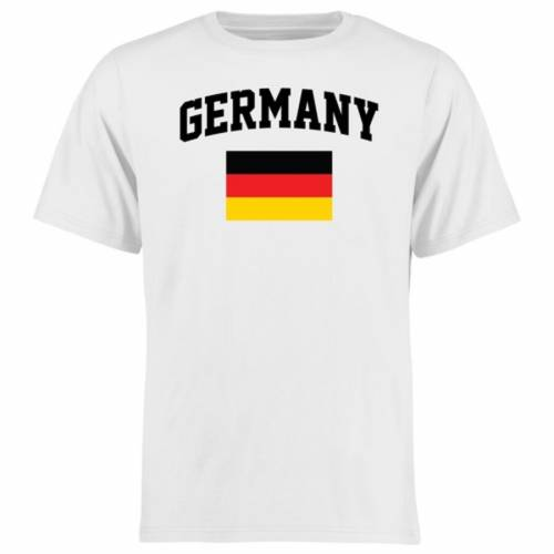 FANATICS BRANDED Tシャツ 白 ホワイト 【 WHITE FANATICS BRANDED GERMANY FLAG TSHIRT 】 メンズファッション トップス Tシャツ カットソー
