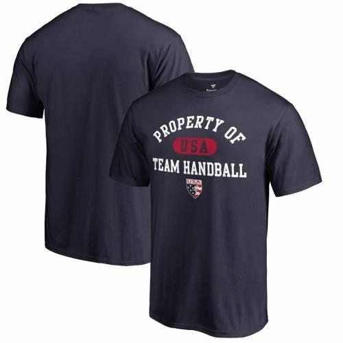 FANATICS BRANDED チーム ハンドボール Tシャツ 紺 ネイビー メンズファッション トップス カットソー メンズ 【 Usa Team Handball Property Of Big And Tall T-shirt - Navy 】 Navy