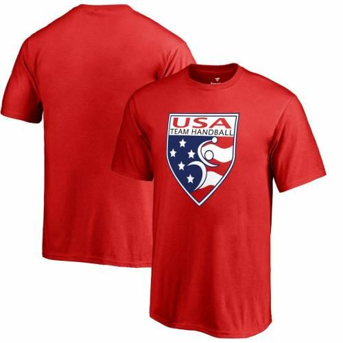 FANATICS BRANDED チーム ハンドボール 子供用 ロゴ Tシャツ 赤 レッド キッズ ベビー マタニティ トップス ジュニア 【 Usa Team Handball Youth Primary Logo T-shirt - Red 】 Red