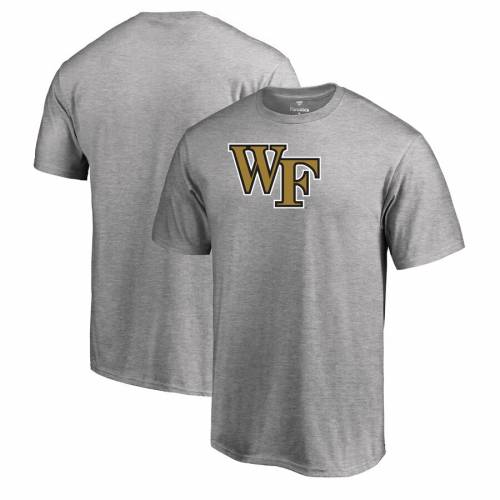 FANATICS BRANDED フォレスト チーム ロゴ Tシャツ メンズファッション トップス カットソー メンズ 【 Wake Forest Demon Deacons Primary Team Logo T-shirt - Ash 】 Ash