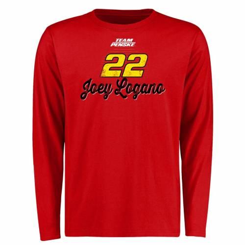 スポーツブランド カジュアル ファッション 超目玉 トップス 長袖 ファナティクス FANATICS 卸直営 BRANDED スリーブ Tシャツ 赤 レッド DAY SLEEVE RED LOGANO カットソー RACE JOEY TSHIRT メンズファッション