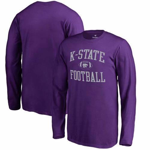 FANATICS BRANDED カンザス スケートボード 子供用 スリーブ Tシャツ 紫 パープル キッズ ベビー マタニティ トップス ジュニア 【 Kansas State Wildcats Youth First Sprint Long Sleeve T-shirt - Purple 】 Purpl