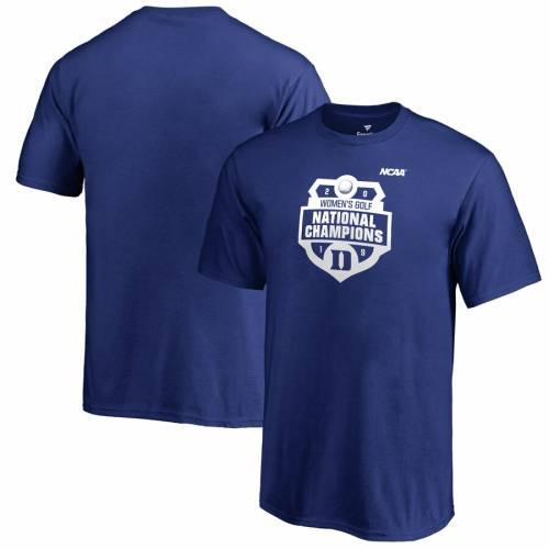 FANATICS BRANDED デューク 青 ブルー 子供用 レディース ゴルフ Tシャツ キッズ ベビー マタニティ トップス ジュニア 【 Duke Blue Devils Youth 2019 Ncaa Womens Golf National Champions T-shirt - Royal 】 Royal