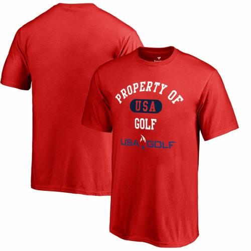 FANATICS BRANDED ゴルフ 子供用 Tシャツ 赤 レッド キッズ ベビー マタニティ トップス ジュニア 【 Usa Golf Youth Property Of T-shirt - Red 】 Red