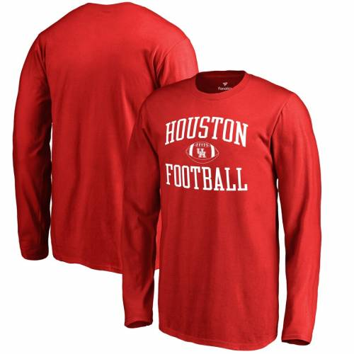 FANATICS BRANDED ヒューストン 子供用 スリーブ Tシャツ 赤 レッド キッズ ベビー マタニティ トップス ジュニア 【 Houston Cougars Youth First Sprint Long Sleeve T-shirt - Red 】 Red