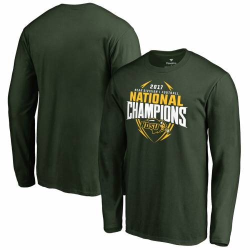 FANATICS BRANDED スリーブ Tシャツ 緑 グリーン メンズファッション トップス カットソー メンズ 【 Ndsu Bison 2017 Ncaa Fcs National Champions Long Sleeve T-shirt - Green 】 Green