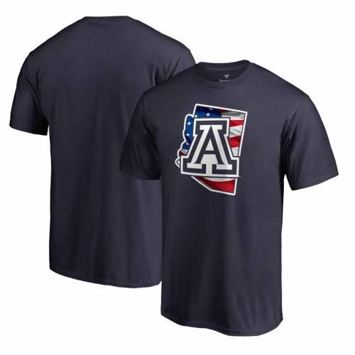FANATICS BRANDED アリゾナ スケートボード Tシャツ 紺 ネイビー メンズファッション トップス カットソー メンズ 【 Arizona Wildcats Banner State T-shirt - Navy 】 Navy