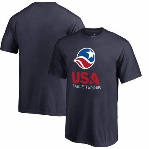 FANATICS BRANDED テニス 子供用 ロゴ Tシャツ 紺 ネイビー キッズ ベビー マタニティ トップス ジュニア 【 Usa Table Tennis Youth Primary Logo T-shirt - Navy 】 Navy