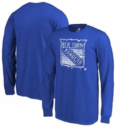 FANATICS BRANDED レンジャーズ 子供用 スリーブ Tシャツ 青 ブルー キッズ ベビー マタニティ トップス ジュニア 【 New York Rangers Youth Hometown Long Sleeve T-shirt - Blue 】 Blue