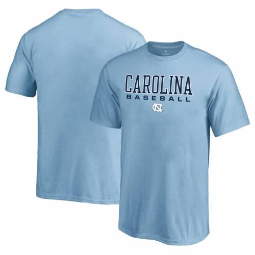 FANATICS BRANDED ノース カロライナ 子供用 ベースボール Tシャツ 青 ブルー キッズ ベビー マタニティ トップス ジュニア 【 North Carolina Tar Heels Youth True Sport Baseball T-shirt - Light Blue 】 Light Blu