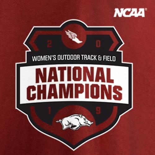 スポーツブランド カジュアル ファッション トップス 半袖 ファナティクス FANATICS BRANDED アーカンソー レイザーバックス レディース トラック Tシャツ フィールド TSHIRT CHAMPIONS アイテム勢ぞろい FIELD WOMEN'S 2019 TRACK NATIONAL NCAA OUTDOOR カーディナル キャンペーンもお見逃しなく
