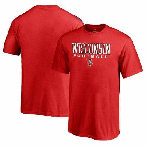 FANATICS BRANDED ウィスコンシン 子供用 Tシャツ 赤 レッド キッズ ベビー マタニティ トップス ジュニア 【 Wisconsin Badgers Youth True Sport Football T-shirt - Red 】 Red
