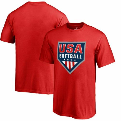 FANATICS BRANDED 子供用 ロゴ Tシャツ 赤 レッド キッズ ベビー マタニティ トップス ジュニア 【 Usa Softball Youth Primary Logo T-shirt - Red 】 Red