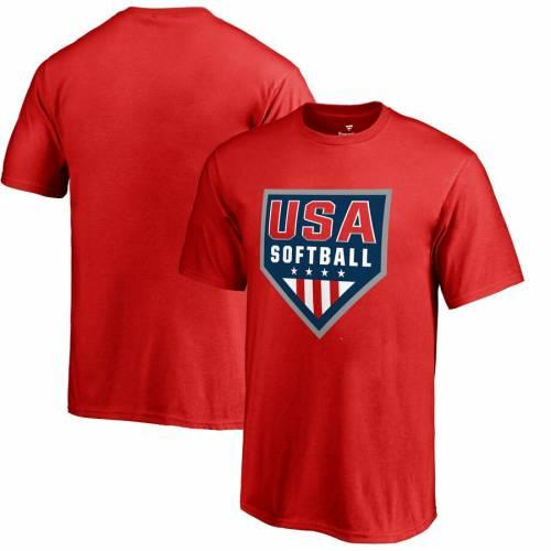 FANATICS BRANDED 子供用 ロゴ Tシャツ 赤 レッド キッズ ベビー マタニティ トップス ジュニア 【 Usa Softball Youth Primary Logo T-shirt - Red 】 Red