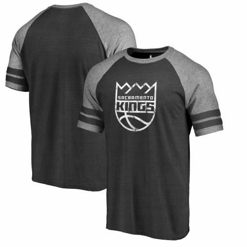 FANATICS BRANDED サクラメント キングス ロゴ ラグラン Tシャツ 黒 ブラック メンズファッション トップス カットソー メンズ 【 Sacramento Kings Marble Logo Raglan T-shirt - Black 】 Black
