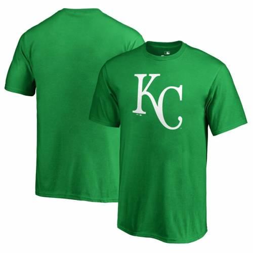 FANATICS BRANDED カンザス シティ ロイヤルズ 子供用 白 ホワイト ロゴ Tシャツ 緑 グリーン St. キッズ ベビー マタニティ トップス ジュニア 【 Kansas City Royals Youth St. Patricks Day White Logo T-shirt