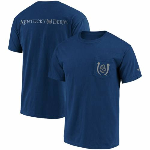FANATICS BRANDED ケンタッキー Tシャツ 【 2019 KENTUCKY DERBY POCKET TRIBLEND TSHIRT BLUE 】 メンズファッション トップス カットソー 送料無料