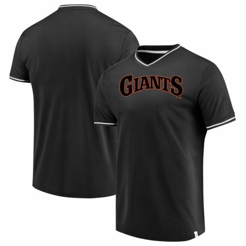 FANATICS BRANDED ジャイアンツ ブイネック Tシャツ メンズファッション トップス カットソー メンズ 【 San Francisco Giants True Classics V-neck T-shirt - Black/white 】 Black/white