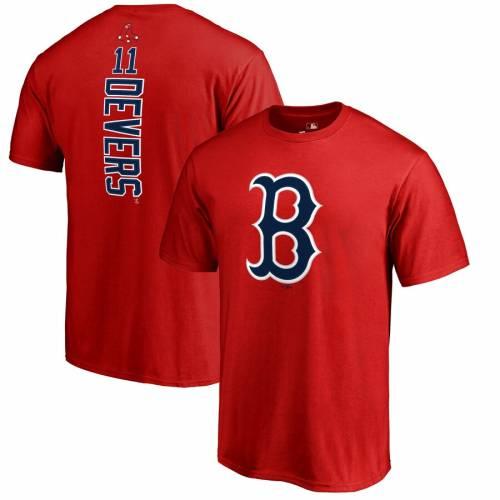 FANATICS BRANDED ボストン 赤 レッド Tシャツ 【 RED FANATICS BRANDED RAFAEL DEVERS BOSTON SOX BACKER TSHIRT 】 メンズファッション トップス Tシャツ カットソー