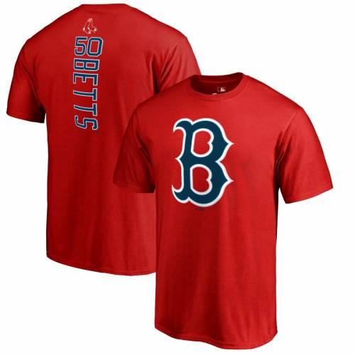FANATICS BRANDED ボストン 赤 レッド Tシャツ メンズファッション トップス カットソー メンズ 【 Mookie Betts Boston Red Sox Backer T-shirt - Red 】 Red
