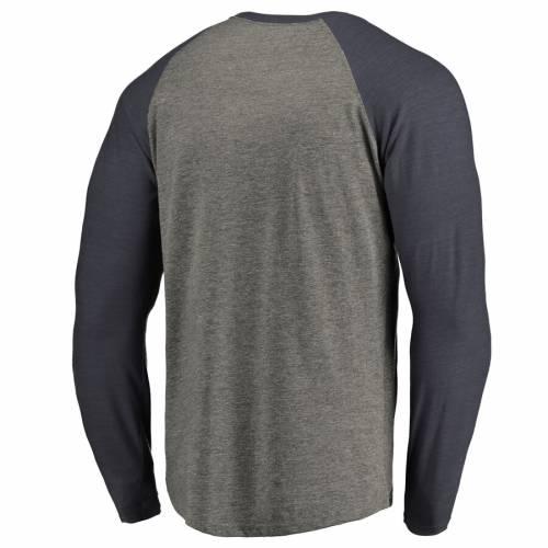 FANATICS BRANDED 黒 ブラック ラグラン スリーブ Tシャツ 灰色 グレー グレイ メンズファッション トップス カットソー メンズ 【 Army Black Knights Big And Tall Freedom Tri-blend Raglan Long Sleeve T-shirt -