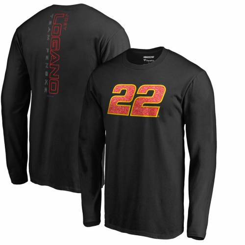 FANATICS BRANDED スリーブ Tシャツ 黒 ブラック メンズファッション トップス カットソー メンズ 【 Joey Logano Static Long Sleeve T-shirt - Black 】 Black