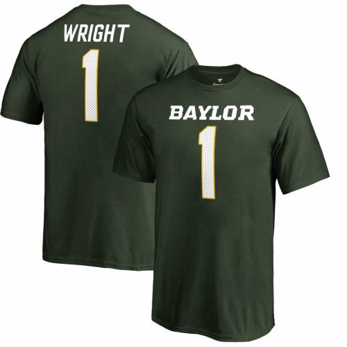 FANATICS BRANDED ライト ベイラー ベアーズ 子供用 カレッジ Tシャツ 緑 グリーン キッズ ベビー マタニティ トップス ジュニア 【 Kendall Wright Baylor Bears Youth College Legends Name And Number T-shirt - Gr