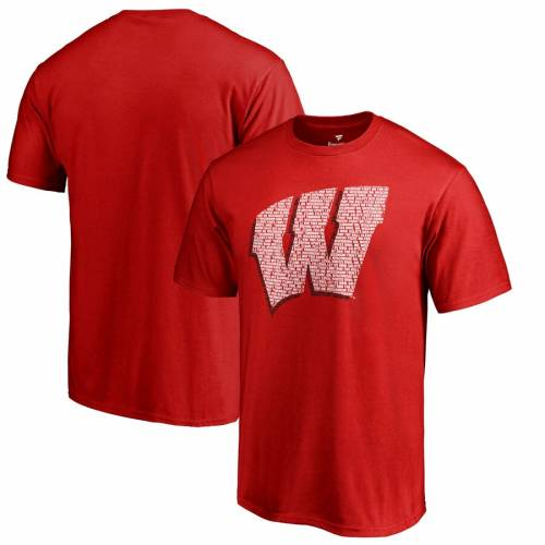 FANATICS BRANDED ウィスコンシン コレクション Tシャツ 【 WISCONSIN BADGERS HOMETOWN COLLECTION FIGHT SONG TSHIRT RED 】 メンズファッション トップス カットソー 送料無料