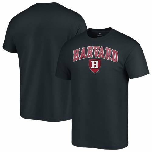 スポーツブランド カジュアル ファッション トップス 公式ショップ 半袖 ファナティクス FANATICS BRANDED ハーバード クリムゾン メンズファッション TSHIRT 黒色 CAMPUS カットソー BLACK キャンパス ブラック 安い Tシャツ