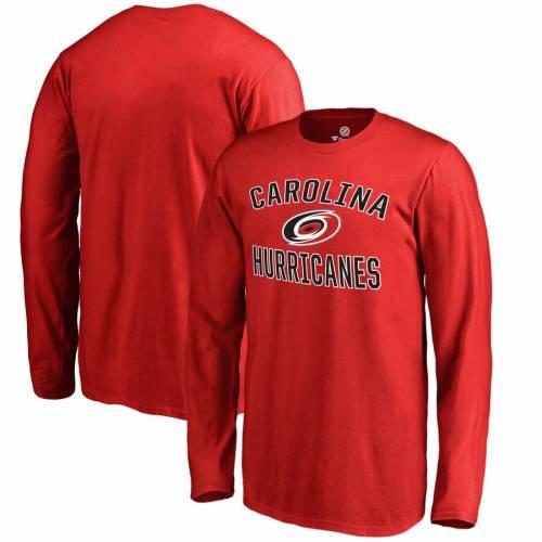 FANATICS BRANDED カロライナ 子供用 ビクトリー スリーブ Tシャツ 赤 レッド キッズ ベビー マタニティ トップス ジュニア 【 Carolina Hurricanes Youth Victory Arch Long Sleeve T-shirt - Red 】 Red