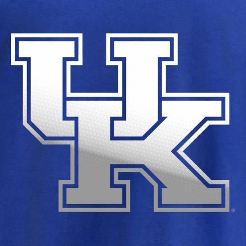 FANATICS BRANDED ケンタッキー 子供用 ロゴ スリーブ Tシャツ キッズ ベビー マタニティ トップス ジュニア 【 Kentucky Wildcats Youth Gradient Logo Long Sleeve T-shirt - Royal 】 Royal