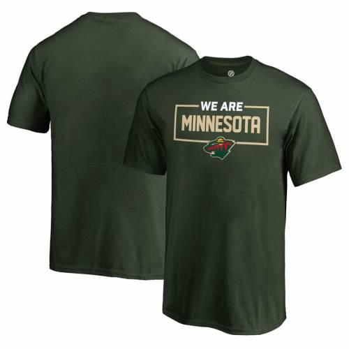 FANATICS BRANDED ミネソタ ワイルド 子供用 コレクション Tシャツ 緑 グリーン キッズ ベビー マタニティ トップス ジュニア 【 Minnesota Wild Youth Iconic Collection We Are T-shirt - Green 】 Green