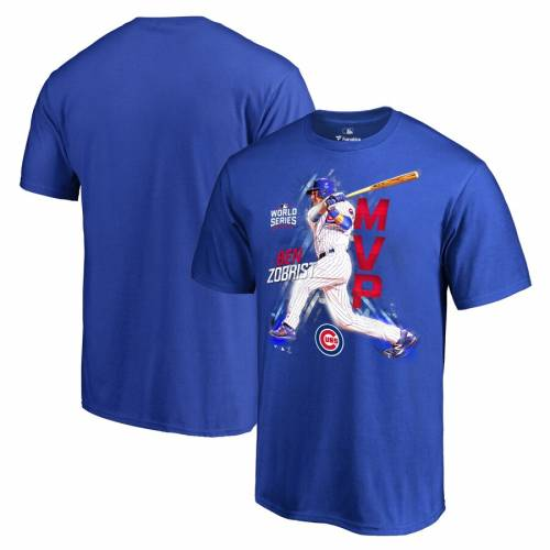 FANATICS BRANDED シカゴ カブス 子供用 シリーズ Tシャツ キッズ ベビー マタニティ トップス ジュニア 【 Ben Zobrist Chicago Cubs Youth 2016 World Series Champions Mvp T-shirt - Royal 】 Royal