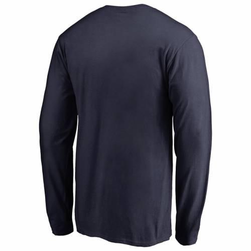 FANATICS BRANDED コネチカット チーム スリーブ Tシャツ 紺 ネイビー メンズファッション トップス カットソー メンズ 【 Uconn Huskies Team Lockup Long Sleeve T-shirt - Navy 】 Navy
