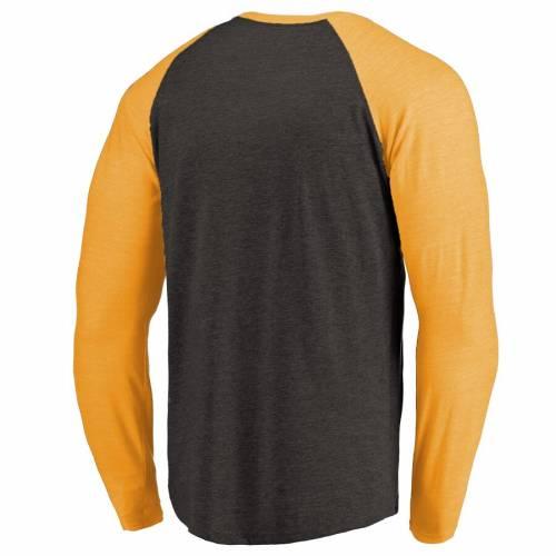 FANATICS BRANDED ピッツバーグ ラグラン スリーブ Tシャツ 黒 ブラック メンズファッション トップス カットソー メンズ 【 Pittsburgh Penguins Showtime Raglan Tri-blend Long Sleeve T-shirt - Black 】 Black