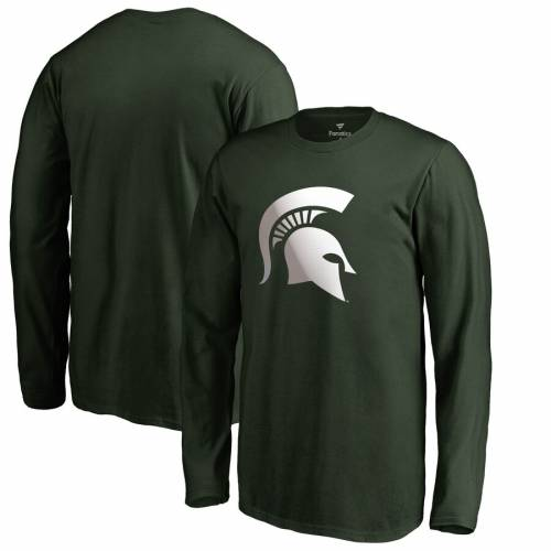 FANATICS BRANDED ミシガン スケートボード 子供用 ロゴ スリーブ Tシャツ 緑 グリーン キッズ ベビー マタニティ トップス ジュニア 【 Michigan State Spartans Youth Gradient Logo Long Sleeve T-shirt - Green