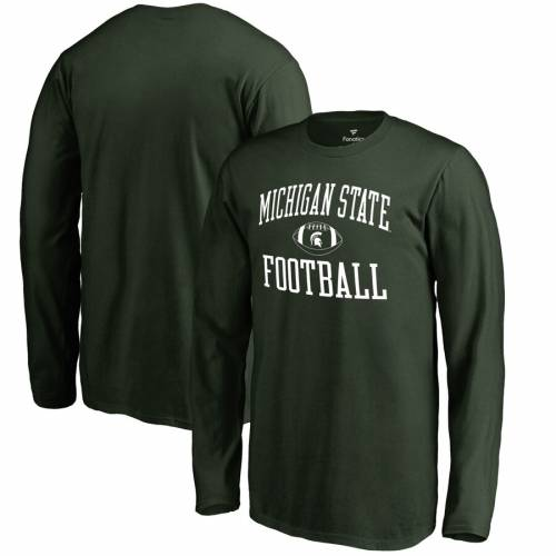 FANATICS BRANDED ミシガン スケートボード 子供用 スリーブ Tシャツ 緑 グリーン キッズ ベビー マタニティ トップス ジュニア 【 Michigan State Spartans Youth First Sprint Long Sleeve T-shirt - Green 】 Gree