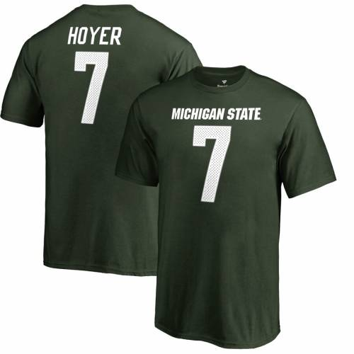 FANATICS BRANDED ミシガン スケートボード 子供用 カレッジ Tシャツ 緑 グリーン キッズ ベビー マタニティ トップス ジュニア 【 Brian Hoyer Michigan State Spartans Youth College Legends Name And Number T-shi