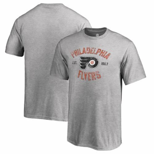 FANATICS BRANDED フィラデルフィア 子供用 Tシャツ キッズ ベビー マタニティ トップス ジュニア 【 Philadelphia Flyers Youth Heritage T-shirt - Ash 】 Ash