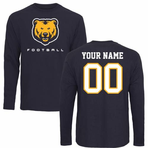 FANATICS BRANDED コロラド ベアーズ スリーブ Tシャツ 紺 ネイビー [CUSTOMIZED ITEM] 【 BEARS SLEEVE NAVY FANATICS BRANDED NORTHERN COLORADO PERSONALIZED FOOTBALL LONG TSHIRT 】 メンズファッション トップス Tシャツ