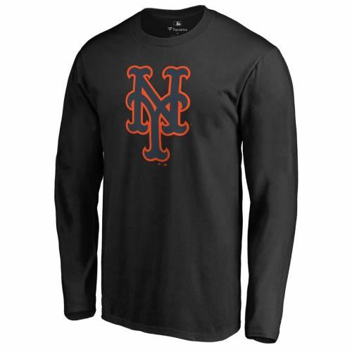 FANATICS BRANDED メッツ スリーブ Tシャツ 黒 ブラック メンズファッション トップス カットソー メンズ 【 New York Mets Taylor Long Sleeve T-shirt - Black 】 Black