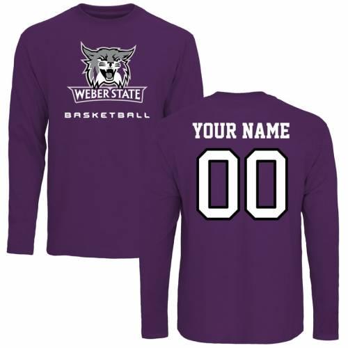 FANATICS BRANDED スケートボード バスケットボール スリーブ Tシャツ 紫 パープル メンズファッション トップス カットソー メンズ 【 [customized Item] Weber State Wildcats Personalized Basketball Long Sleev