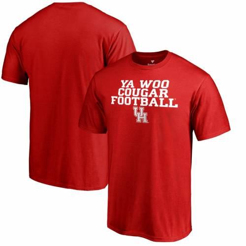 FANATICS BRANDED ヒューストン Tシャツ 赤 レッド 【 RED FANATICS BRANDED HOUSTON COUGARS YA WOO TSHIRT 】 メンズファッション トップス Tシャツ カットソー