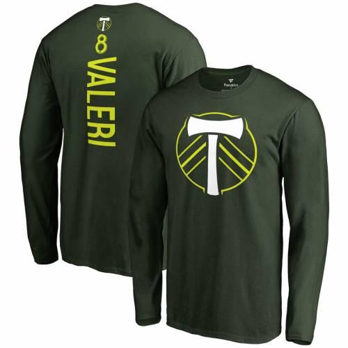 FANATICS BRANDED ポートランド スリーブ Tシャツ 緑 グリーン メンズファッション トップス カットソー メンズ 【 Diego Valeri Portland Timbers Backer Long Sleeve T-shirt - Green 】 Green
