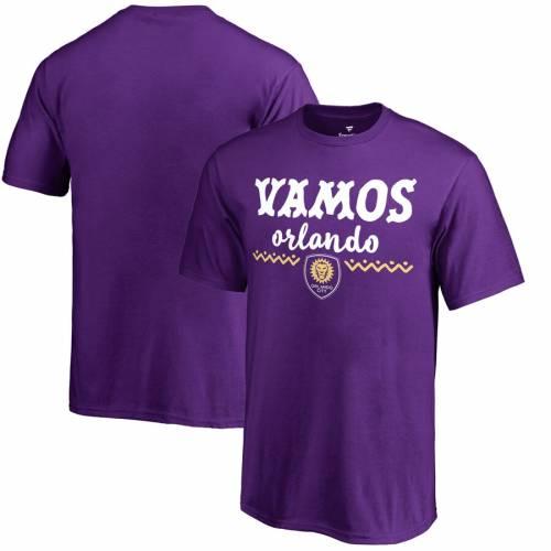 FANATICS BRANDED オーランド シティ 子供用 Tシャツ 紫 パープル キッズ ベビー マタニティ トップス ジュニア 【 Orlando City Sc Youth Hispanic Heritage Lets Go T-shirt - Purple 】 Purple