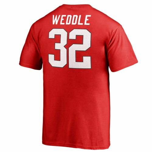 FANATICS BRANDED ユタ 子供用 カレッジ Tシャツ 赤 レッド キッズ ベビー マタニティ トップス ジュニア 【 Eric Weddle Utah Utes Youth College Legends Name And Number T-shirt - Red 】 Red
