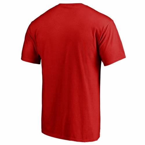 FANATICS BRANDED ユタ ロゴ Tシャツ 赤 レッド 【 RED FANATICS BRANDED UTAH UTES STATIC LOGO TSHIRT 】 メンズファッション トップス Tシャツ カットソー