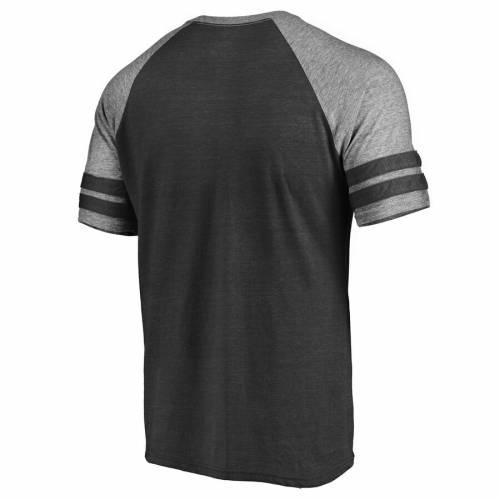 FANATICS BRANDED オーランド マジック ロゴ ラグラン Tシャツ 黒 ブラック メンズファッション トップス カットソー メンズ 【 Orlando Magic Marble Logo Raglan T-shirt - Black 】 Black