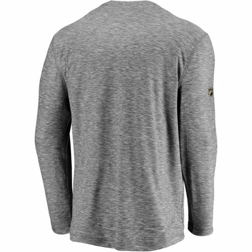 FANATICS BRANDED ピッツバーグ オーセンティック プロ スリーブ Tシャツ 灰色 グレー グレイ メンズファッション トップス カットソー メンズ 【 Pittsburgh Penguins Authentic Pro Clutch Long Sleeve T-shi
